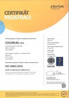 ISO-14001-2015-COLORLAK-2020-CZ